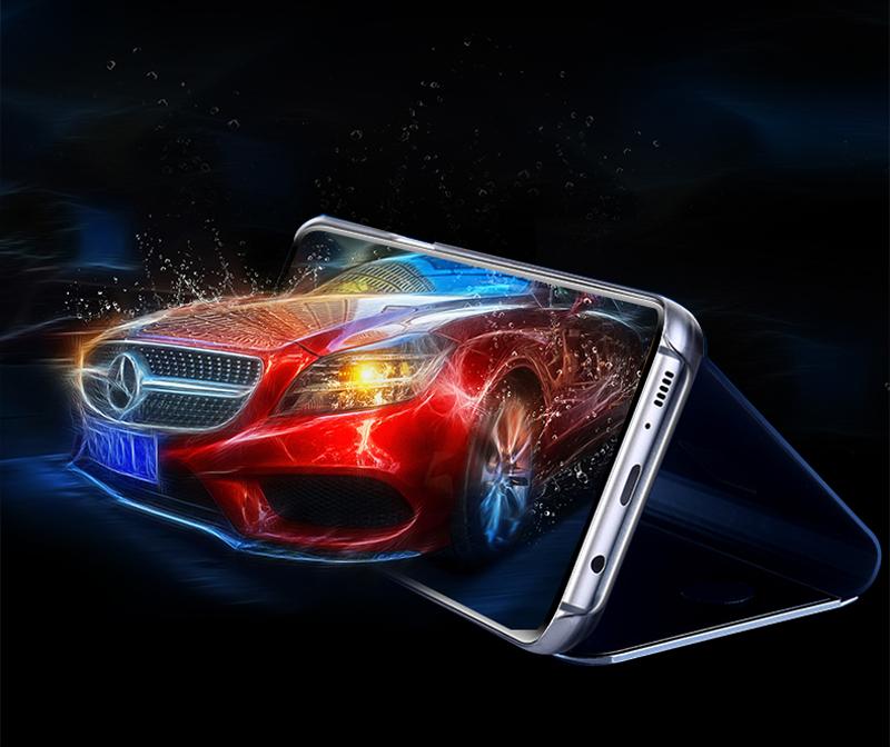 Smart Mirror Flip Case For Samsung Galaxy S20 FE S10 S9 S8 Plus Ultra S10E S7 Edge S6 Note 20 10 9 8 5 Lite 5G Phone Cover Funda