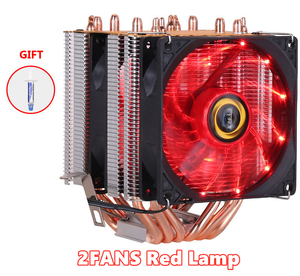 Image 3 - 6 Heatpipes RVB REFROIDISSEUR DE PROCESSEUR Radiateur Refroidissement 3PIN 4PIN 2 ventilateur Pour Intel 1150 1155 1156 1366 2011 X79 X99 AM2/AM3/AM4 Ventilador