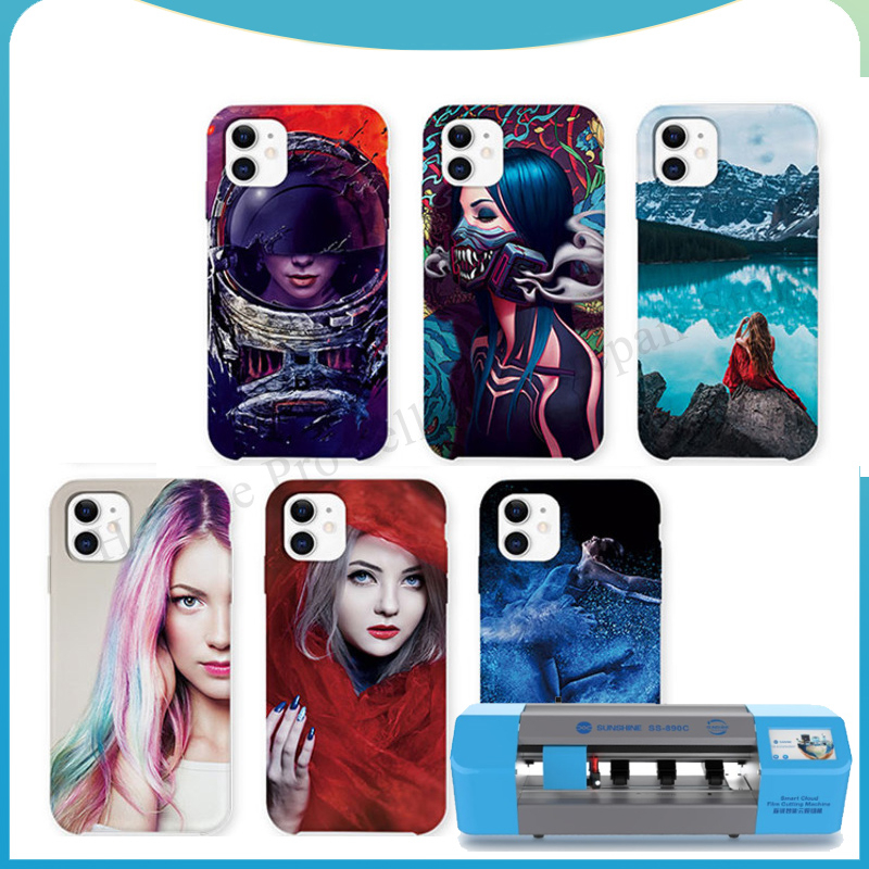 50pcs SS-057Dmobile phone Back Cover Protector Sticker Customizable patterns for SUNSHINE SS-890C cutting machine sunshine tools