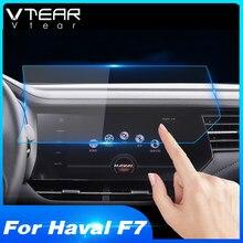 Vtear havalı F7 F7X araba GPS navigasyon ekran koruyucu Film lcd koruyucu oto iç araba şekillendirici aksesuarları 2018 2019