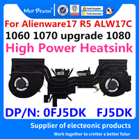 Laptop new CPU/Graphics Cooling Heatsink Fan Assembly For Dell Alienware17 R5 ALW17C upgrade High Power GTX 1080 0FJ5DK FJ5DK