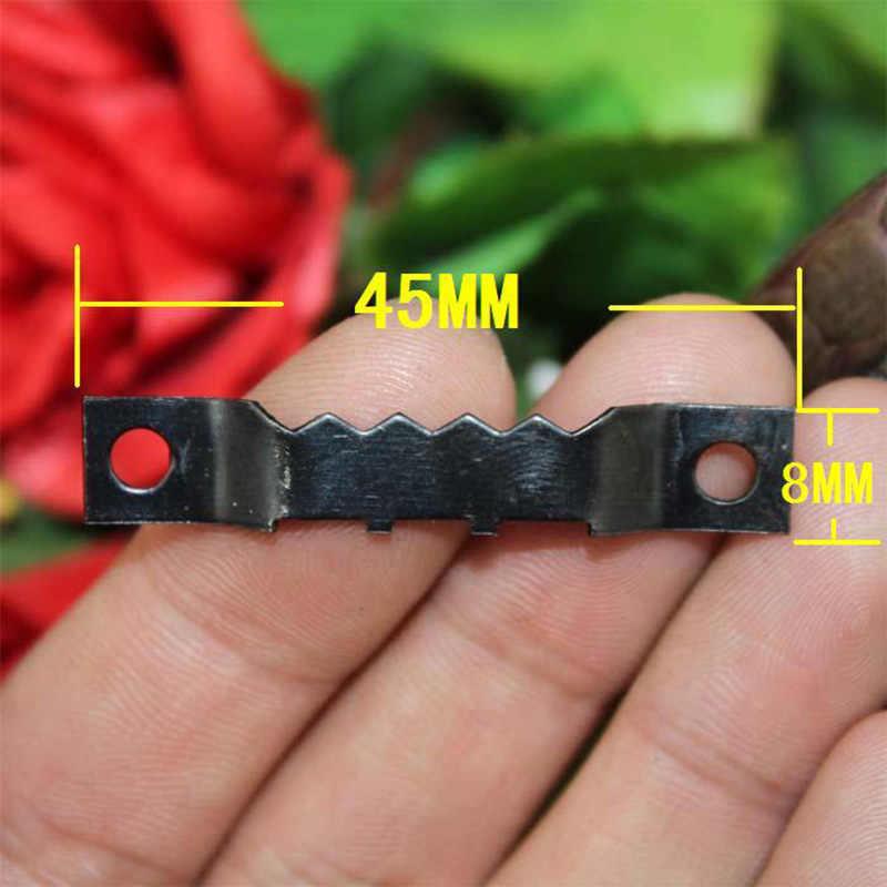10pcs 45 * 8mm Bblack Jagged Frame  Hoo Double Serrated Iron Hook Furniture Photo Hardware
