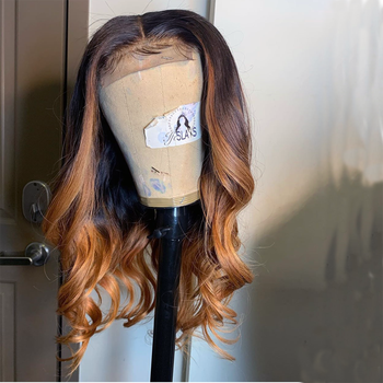 LM Ombre Brown Wave Lace Frontal Wigs Ombre Honey Wave Brazilian Virgin Hiuman Wig куртка ombre ombre mp002xm23yn7