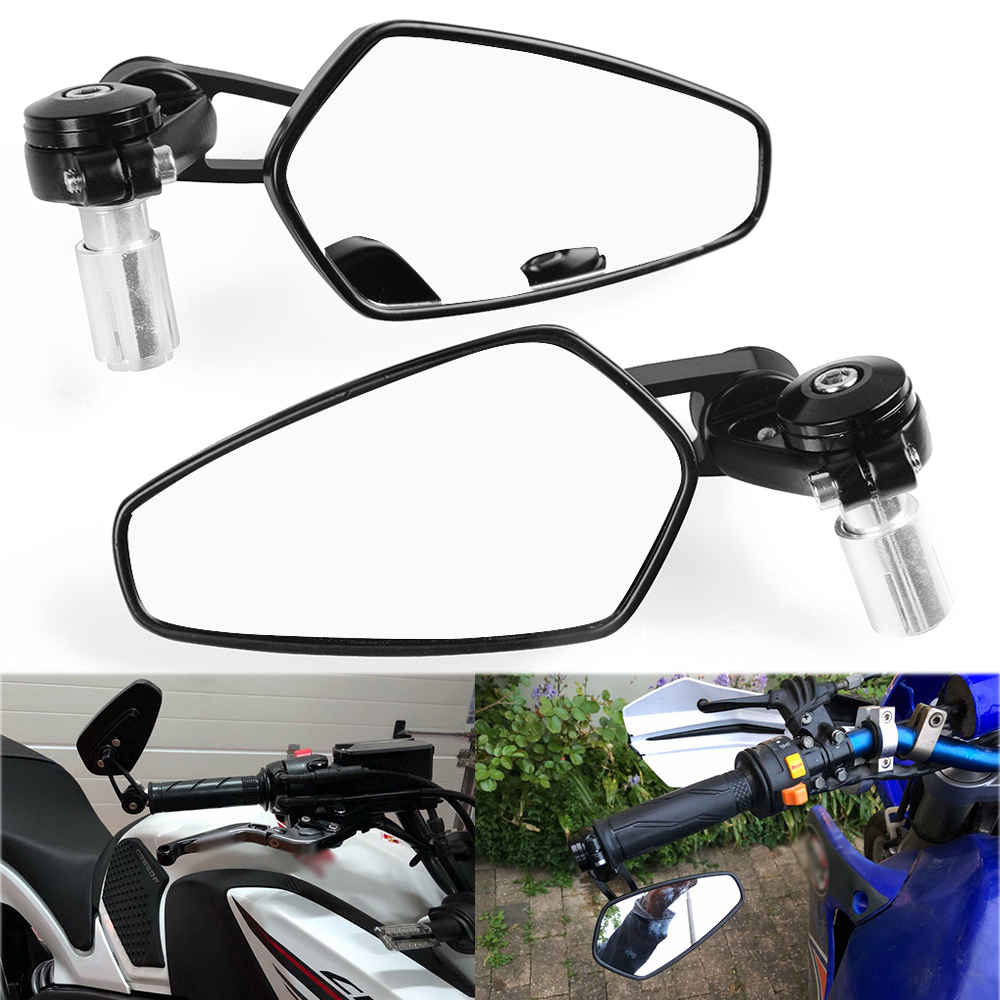 "7/8"" Handlebar Motocycle Rearview Mirrors Moto End Motor Side Mirrors For Yamaha YZFR125 YZF-R125 YZF R125 2008-2013 2009 2010"