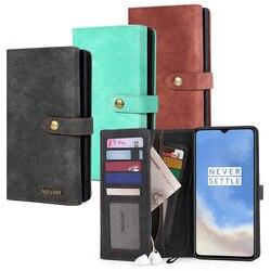 На Алиэкспресс купить чехол для смартфона megshi-016 zipper wallet 2in1 pu leather kickstand back cover phone case for oneplus 7t