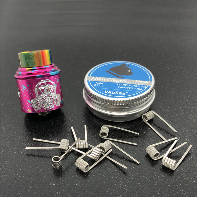 Apocalypse GEN 2 RDA Atomizer RDA 24mm Rebuilding Dripping Tank with squonk BF PIN for 510 Electronic Cigarette BOX Mod 5