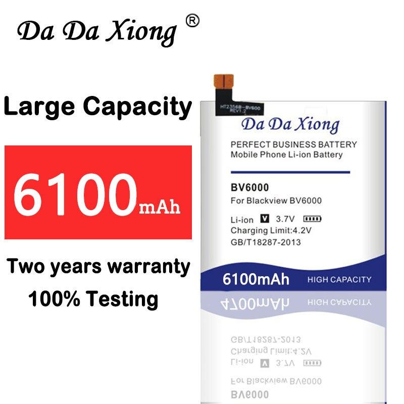 Xiong Da Da Bateria de 6100mAh para Blackview BV6000 para Blackview BV6000S bateria Batterie Bateria do telefone de alta qualidade