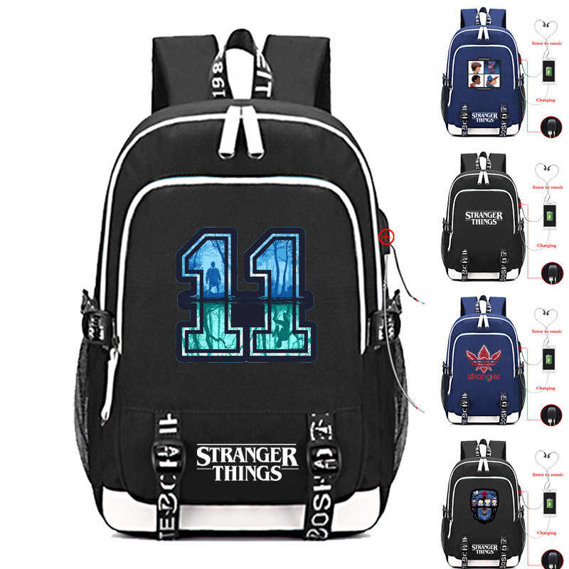 Stranger Things Blame Strange Monogatari Usb Charge Backpack Outdoors Tourism Both Shoulders Package Trend Student A Bag