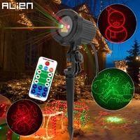 ALIEN Remote RG 8 Big Xmas Patterns Outdoor Waterproof Laser Projector Garden Holiday Christmas Tree Red Green Landscape Light|Stage Lighting Effect|Lights & Lighting -