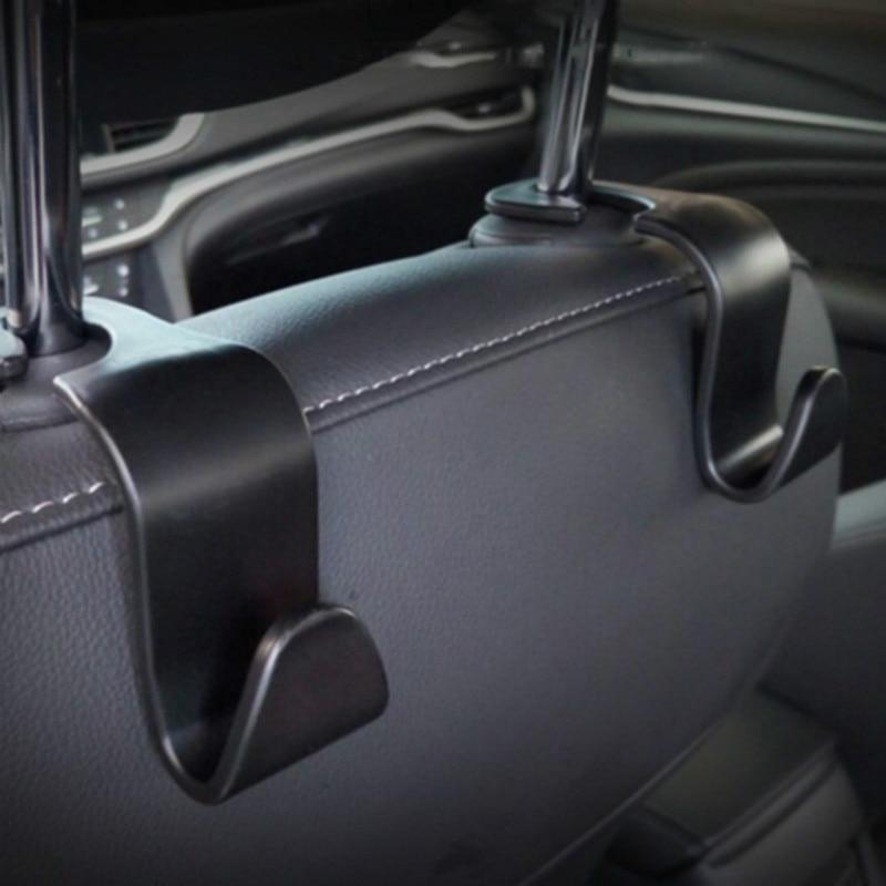 1/2Pcs Universal Car Seat Back Hook Car Accessories Interior Portable Hanger Holder Storage For Car Bag Purse Cloth Decoration