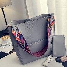 NIGEDU 브랜드 디자이너 여성 핸드백 대용량 다채로운 스트랩 숄더 백 PU 가죽 버킷 크로스 바디 가방 숙녀 빅 토트