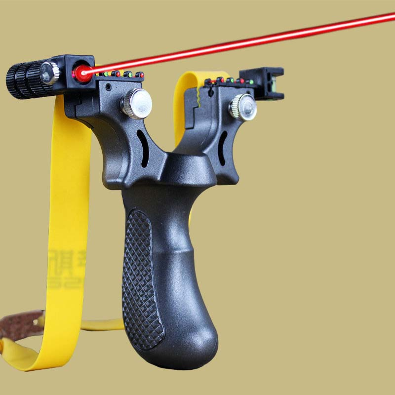 Laser Aiming Slingshot Equipped With Level Instrument For Outdoor Sports Hunting Using High Power Slingshot  Catapult