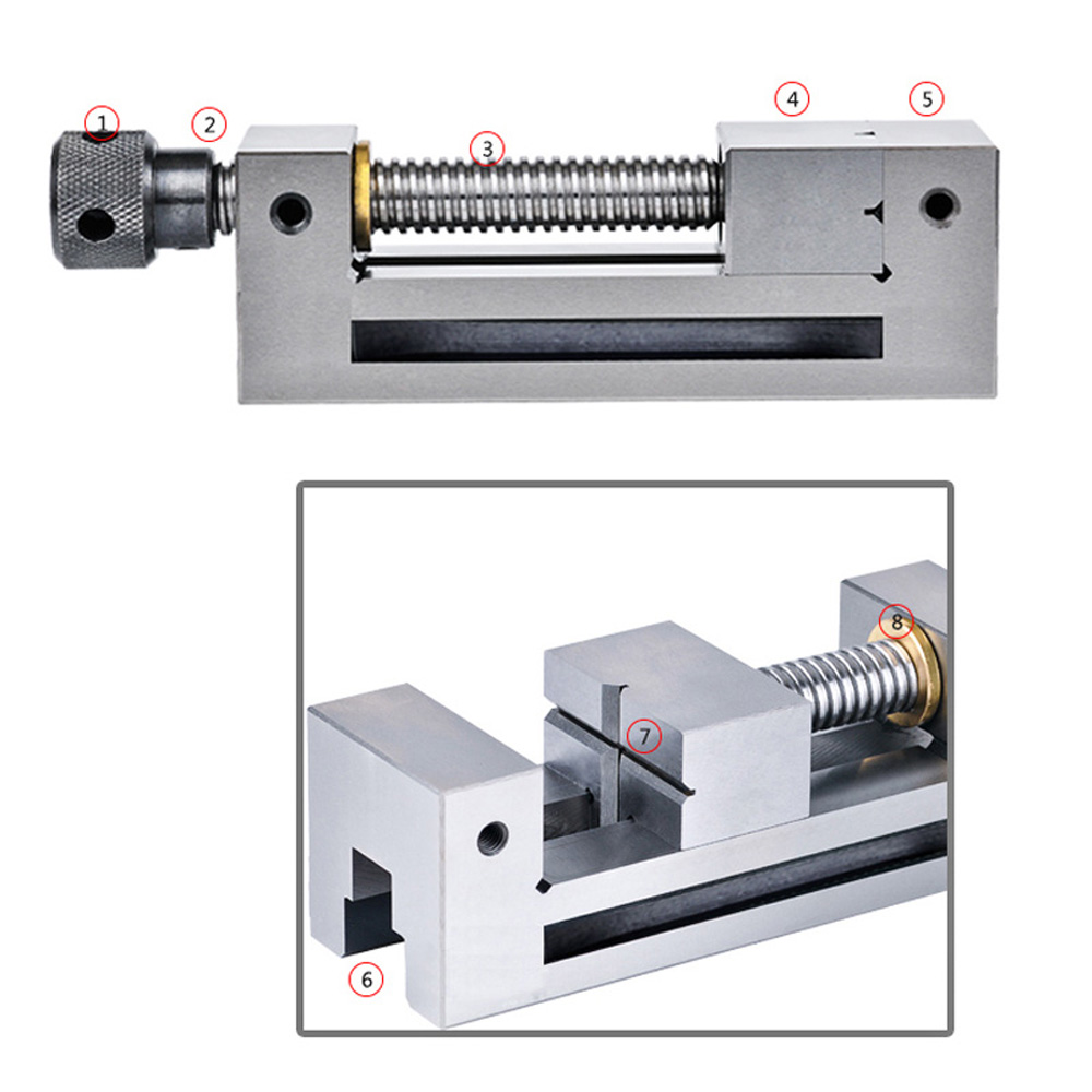 1*Right Angle Vise 0.005/100mm Precision Right Angle Vise Manual Plier Gad Tongs For Surface Grinding Milling Machine