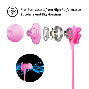 Image 4 - Funny Unicorn Cartoon Headphones Earphones Gamer Music Stereo Earbuds Outdoor Sport Running Headphones Kids Girl Gifts