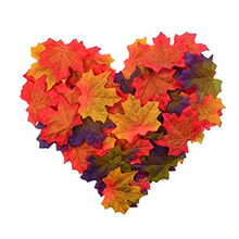 50Pcs Assorted Mixed Fall Colored Artificial Maple Leaves For Weddings Events And Decorating Home Decorations 2020 New cheap Leaf Desktop Silk Maple leaf maple leaf string maple leaf wreath