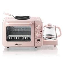 Многофункциональная машина для завтрака тостер бытовой торт на гриле теплое молоко Тройная электрическая духовка