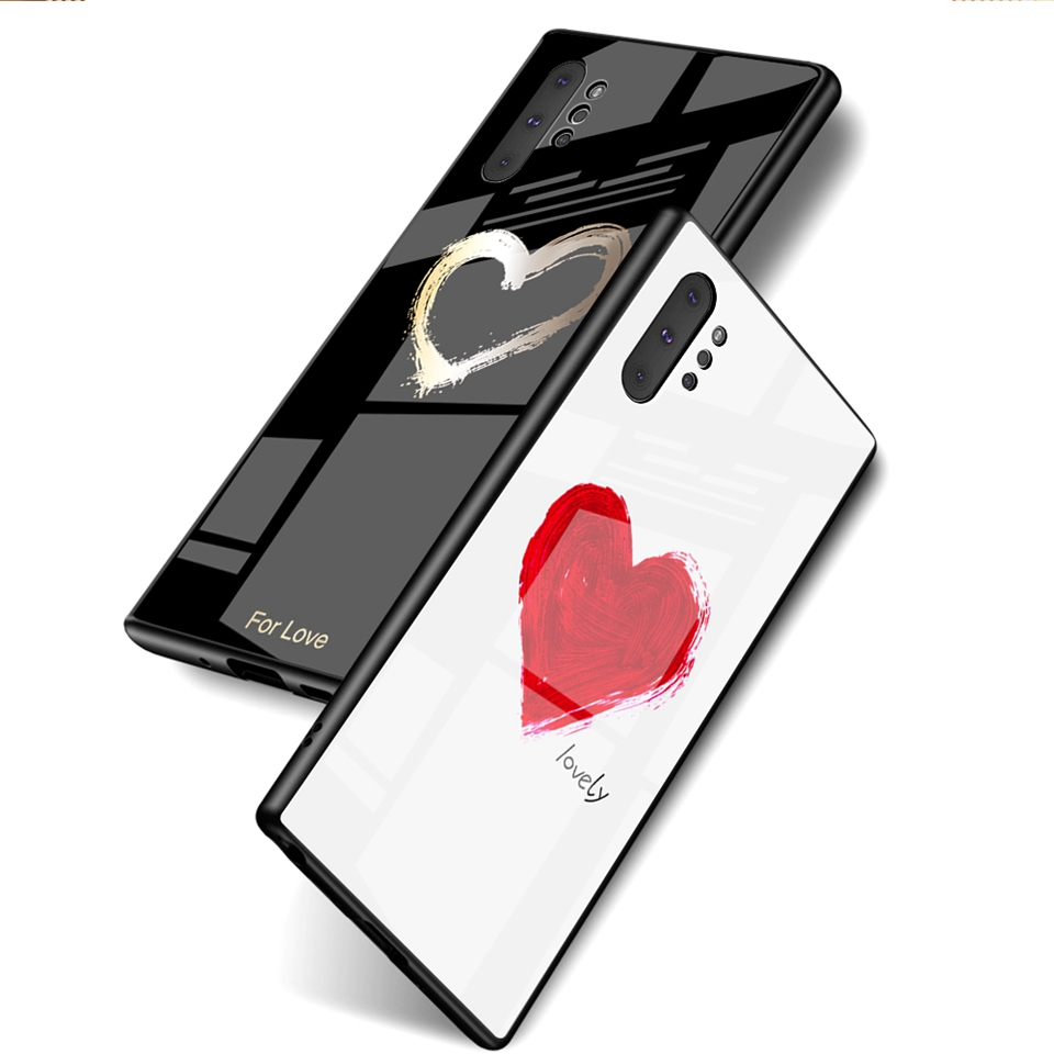 Luxury Glass Case For Samsung Galaxy Note 10 Pro 9 8 Note10 A50 A70 A50s A30s A30 A20 A10 J4 A7 2018 S8 S9 S10 Plus Phone Cover (2)