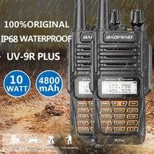2 قطعة الأصلي Baofeng UV-9R ترقية المزدوج الفرقة مقاوم للماء 10 واط اسلكية تخاطب الاتصالات الهواة Vhf Uhf CB UV-9R زائد راديو