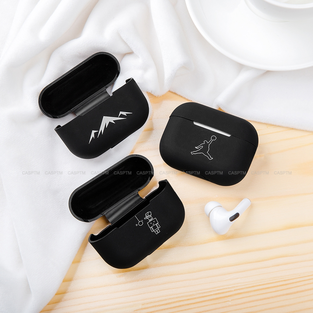 Anti Shock Cartoon Cat Wireless Earphone Protective Case For Apple AirPods Pro Soft Silicone Headphone Black Case For Airpods 3