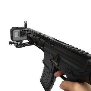 Image 2 - Cnc Aluminium Gun Side Rail Smartphone Adapter Houder Voor Gopro Hero 8 7 6 5 Sjcam Yi 4K sony Actie Camera Accessoires Set