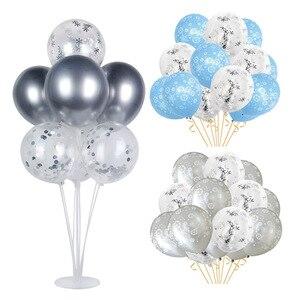 Image 3 - Kerst Sneeuwvlok Latex Ballonnen Baby Shower Decor Nummer Ballon Meisje Kids Verjaardagsfeestje Lucht Globos Xmas Sneeuw Feestartikelen