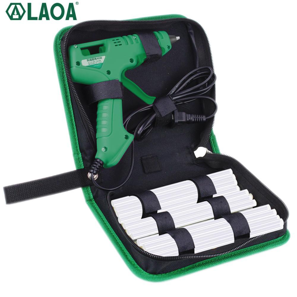 LAOA 25W /40W/8W Hot Melt Glue Gun With Bag 7mm Thermal Glue Hot Melt Guns Pistolet A Colle Soldering Gun