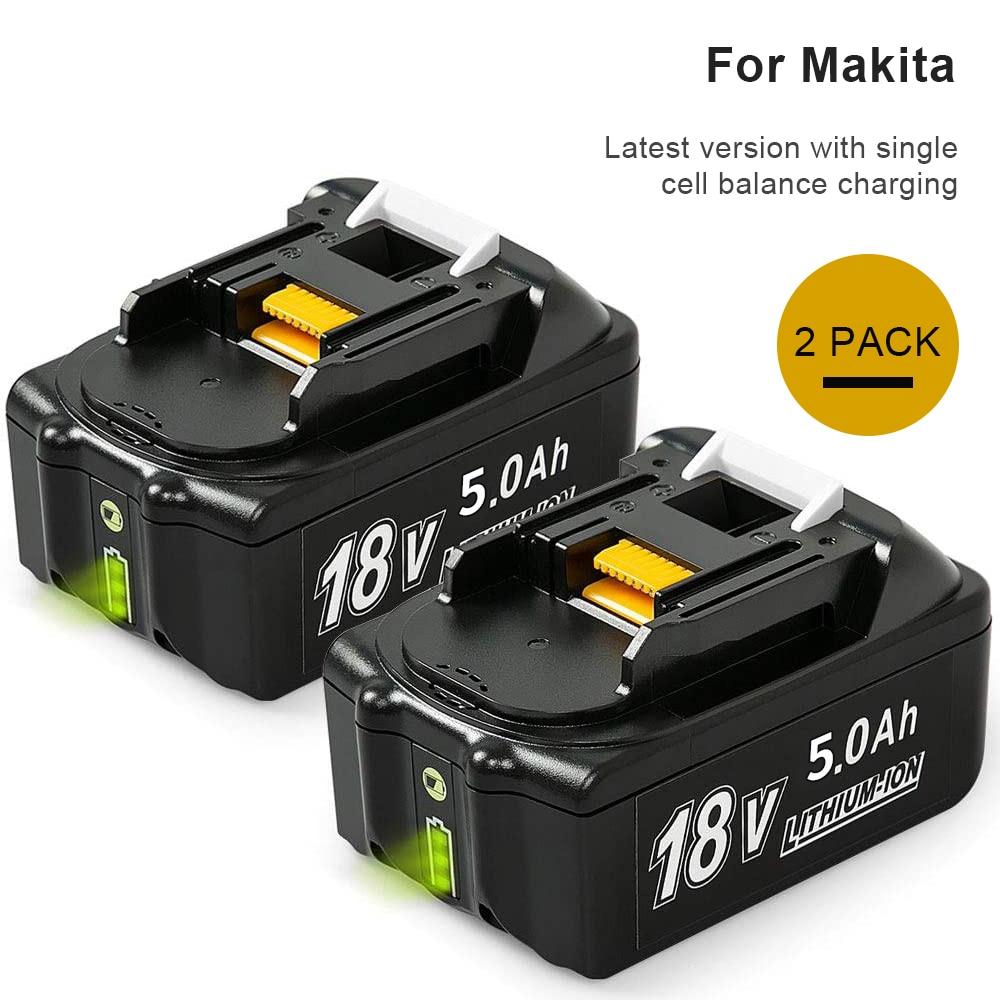 2X BL1860B 5500mAh Lithium Reemplazo para Makita 18V Bater/ía BL1860 BL1850 BL1840 BL1830 BL1815 BL1845 LXT400 con indicador LED Herramienta el/éctrica sin cable