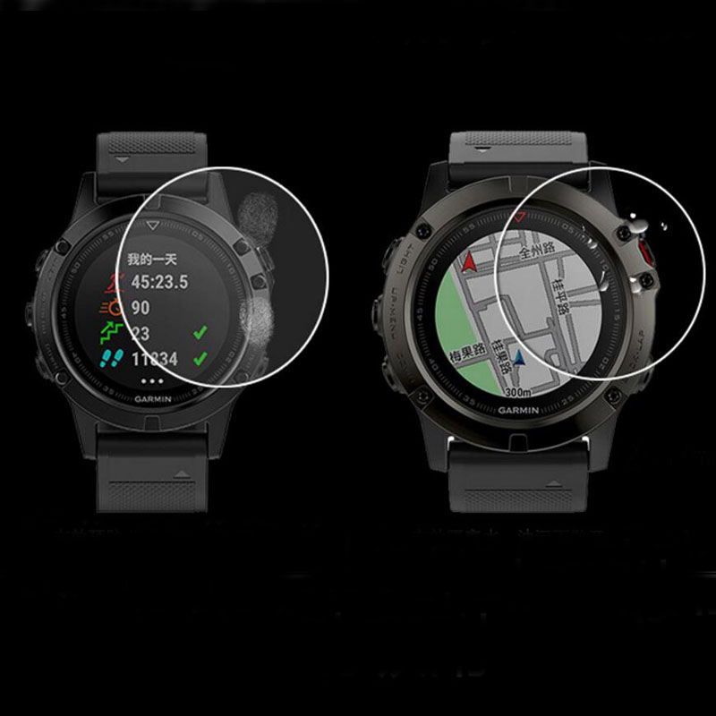 2pcs Soft TPU Clear Protective Film Guard For Garmin Fenix 5/5S/5X Fenix5 Plus SmartWatch Full Screen Protector Cover(Not Glass)