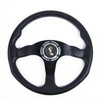 14 Inch Car PU Leather Steering Wheels Replace For MOMO Racing OMP Rally Stitch