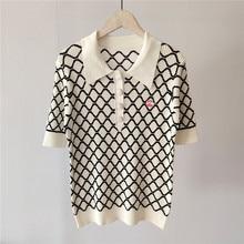 2021 New Summer Fashion Casual T-Shirt da donna modello femminile lettera ricamo top di lusso T-Shirt da donna in lana di alta qualità
