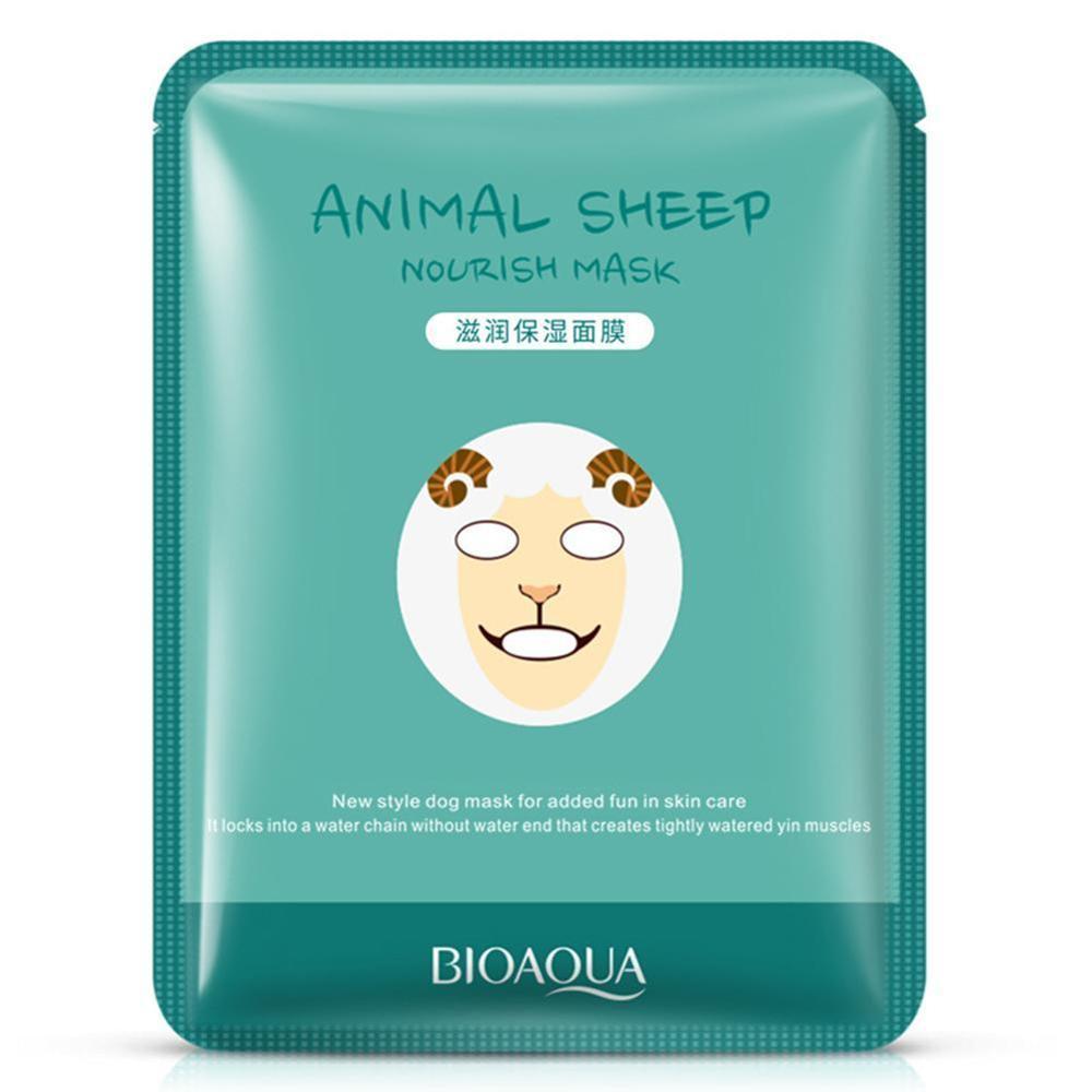 BIOAQUA 4 Type Sheep/Panda/Dog/Tiger Facial Mask Moisturizing Cute Animal Face Masks Skin Care Rehydration Moisten Skin