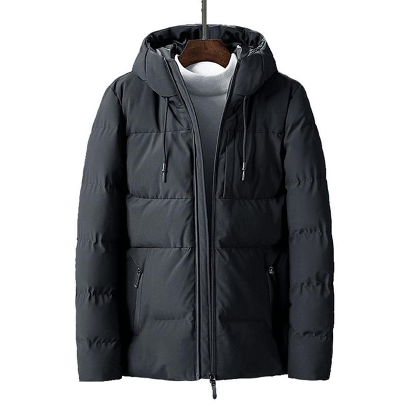 Rlyaeiz 2019 Korean Casual Mens Winter Jacket Short Cotton Padded Hooded Jackets Thickening Warm   Parka   Coat Men casaco masculino