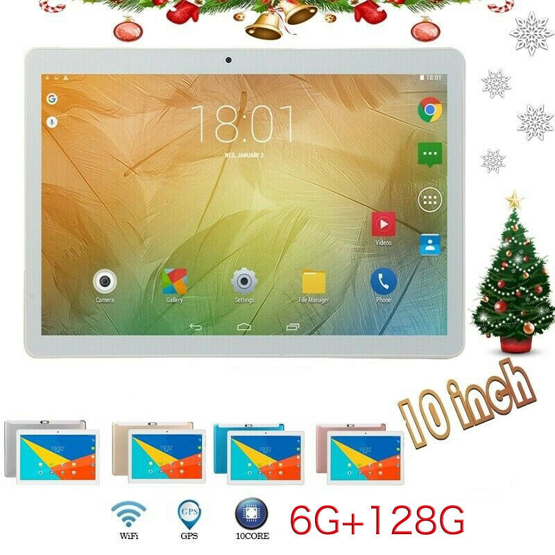 2.5D Screen 10.1 Inch Tablet Android 8.0 WIFI 4G-LTE HD PC Tablet Android 8.0 Bluetooth 6G+128GB SIM GPS Dual Camera For Kids