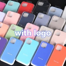 Original Official Liquid Case For iPhone 12 11 Pro max 7 8 6 S 6S plus XR X XS MAX SE 2020 12 mini Silicone Case Cover with logo