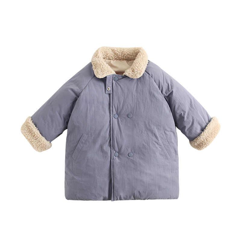 completamente elegante varios diseños gran inventario Ins invierno niños niñas abrigo cálido algodón niños cuello de ...