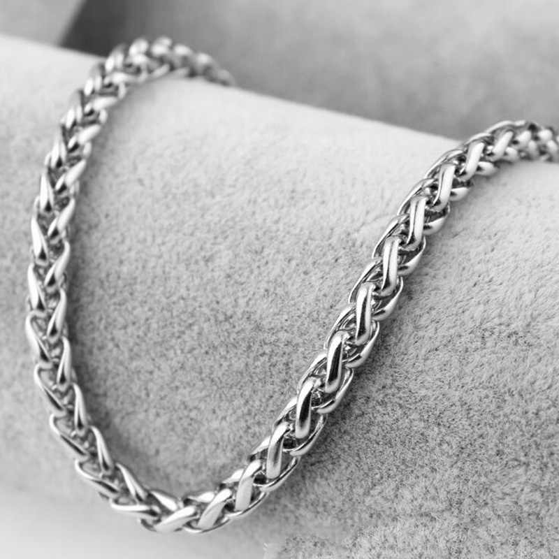 ELSEMODE ze stali tytanu naszyjnik łańcuch dla mężczyzn 3 4 5 6 7 mm Punk Biker smok łańcuch dla mężczyzn dla kobiet akcesoria prezent
