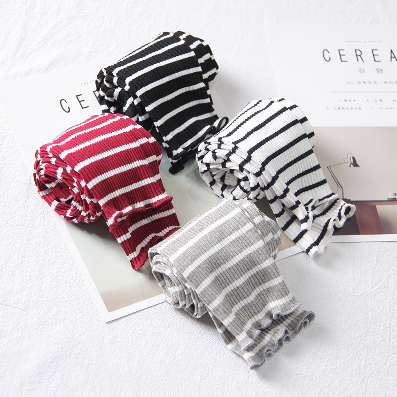 Girls Leggings Girls Pants Baby Toddler Kids Children Classic Leggings Baby Girls Striped Leggings 2-6Y Baby Girl Leggings