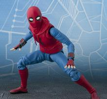 NEW 14cm Spider-Man Homecoming Spiderman Super hero Avengers Action figure toys doll Christmas gift with box j ghee spider man hero back homecoming spiderman q version pvc figure car decoration model doll toys brinquedos christmas gift