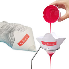 50Pcs Paper Funnel Disposable Paint Filter Paper Filter Net Purification Filter Funnel