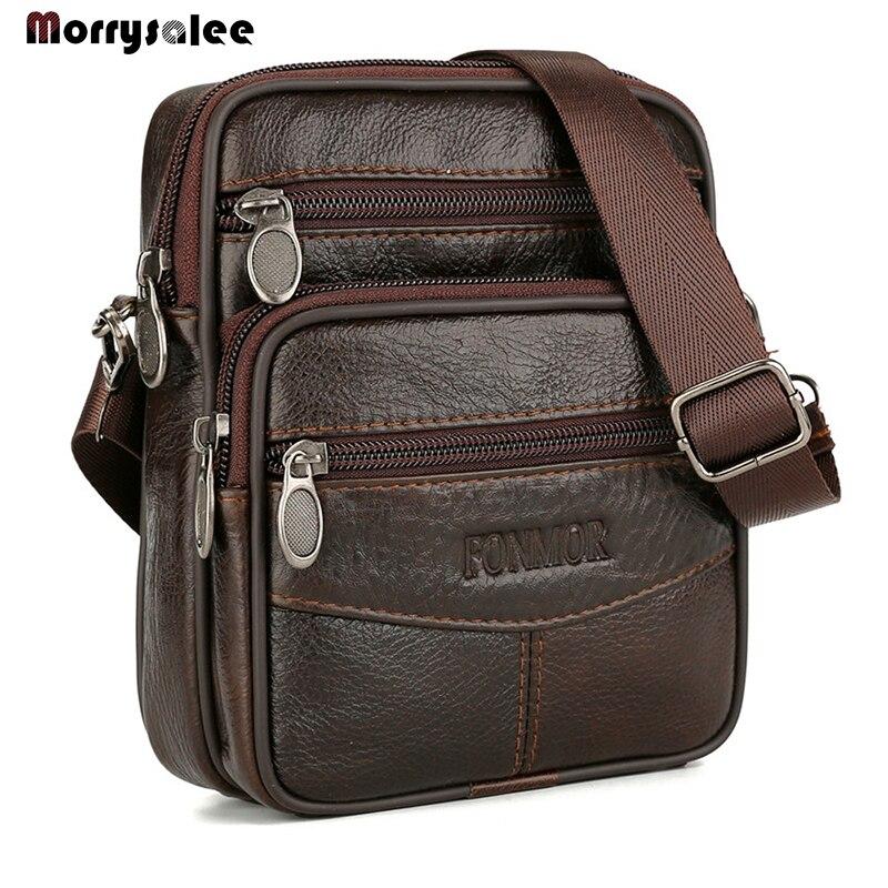 New Men's Bag  Male  Genuine Leather Crossbody Bag  New Arrival Businese BagMen's Messenger Bags Casual Single Shoulder Bag
