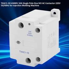 TXAC1-10 UI400V 10A Single Pole 1 NO AC Contactor 220V 50/60Hz Unipolar for Injection Molding Machine