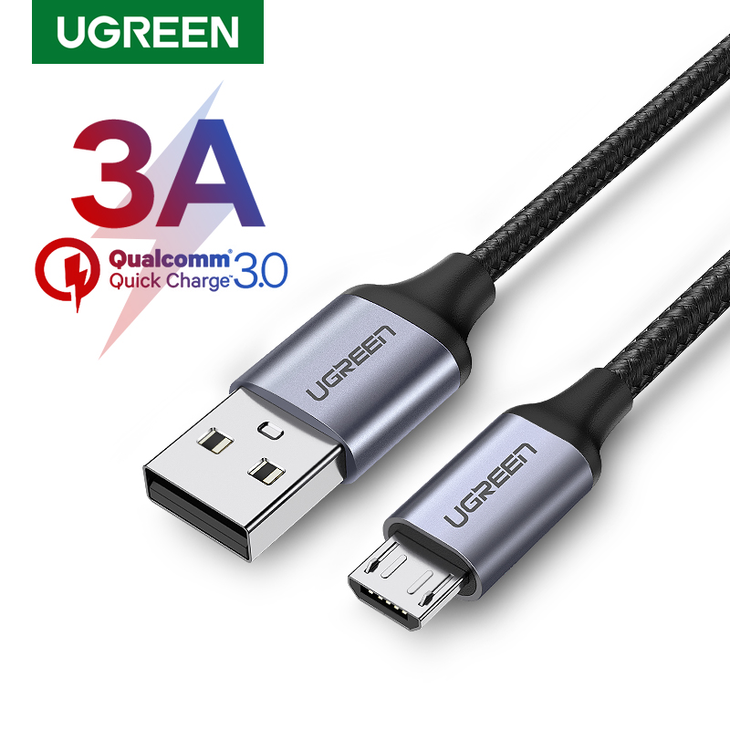 Ugreen Micro USB Cable Charger for Samsung Galaxy S7 S6 Fast Charging Mobile Phone Charger Cord for Xiaomi Tablet USB Cable Wire