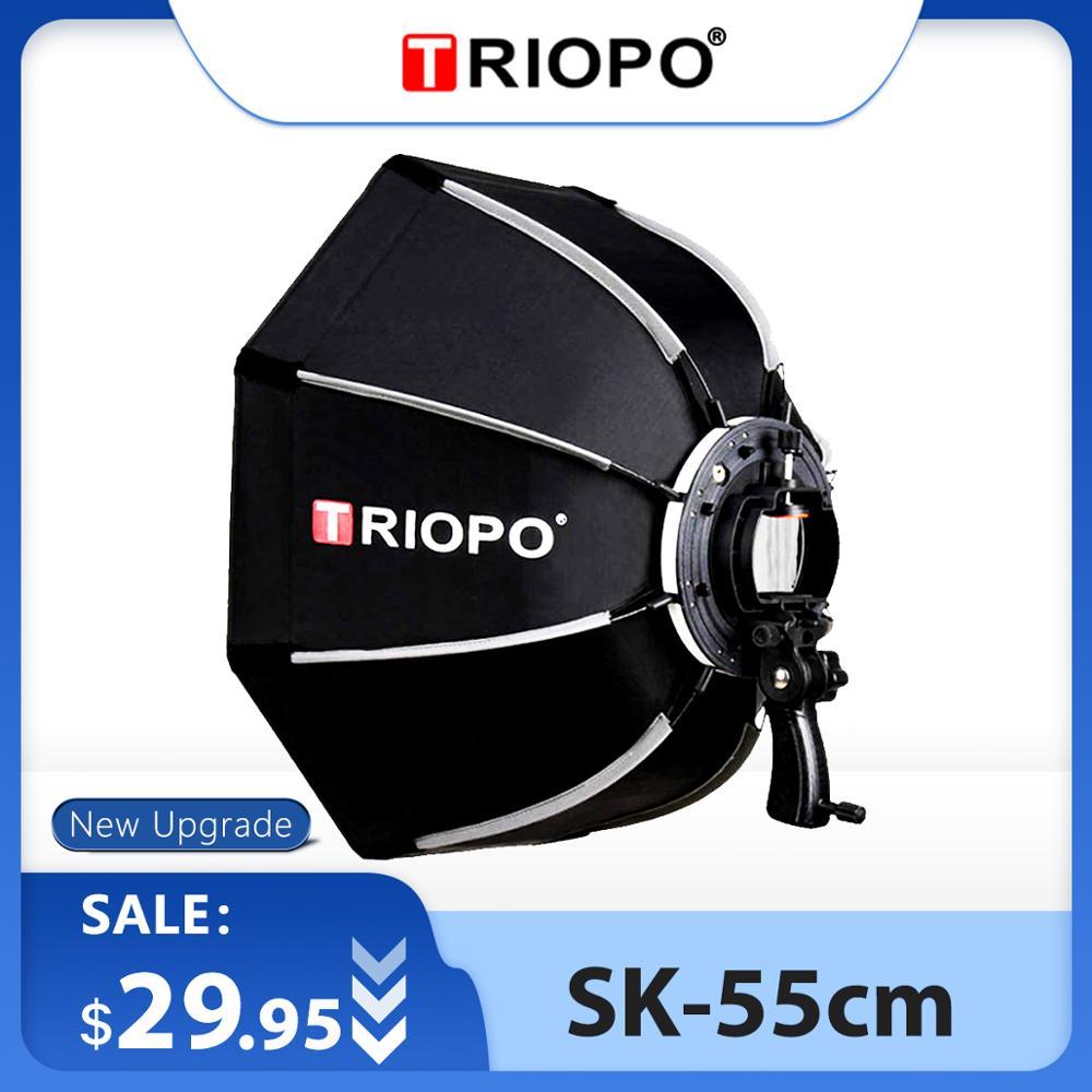 TRIOPO 55cm Octagon ร่ม Softbox Softbox กับจับสำหรับ GODOX บน-กล้องแฟลช SPEEDLITE สตูดิโอถ่ายภาพอุปกรณ์เสริม