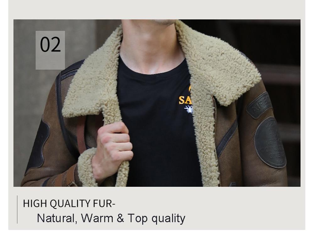 Hd4ffdc041cd74980aaaa0ee27f620528n 2019 Fashion 100% Quality Real Sheepskin Fur Men Coat Genuine Full Pelt Sheep Shearling Male Winter Jacket Brown Men Fur Outwear