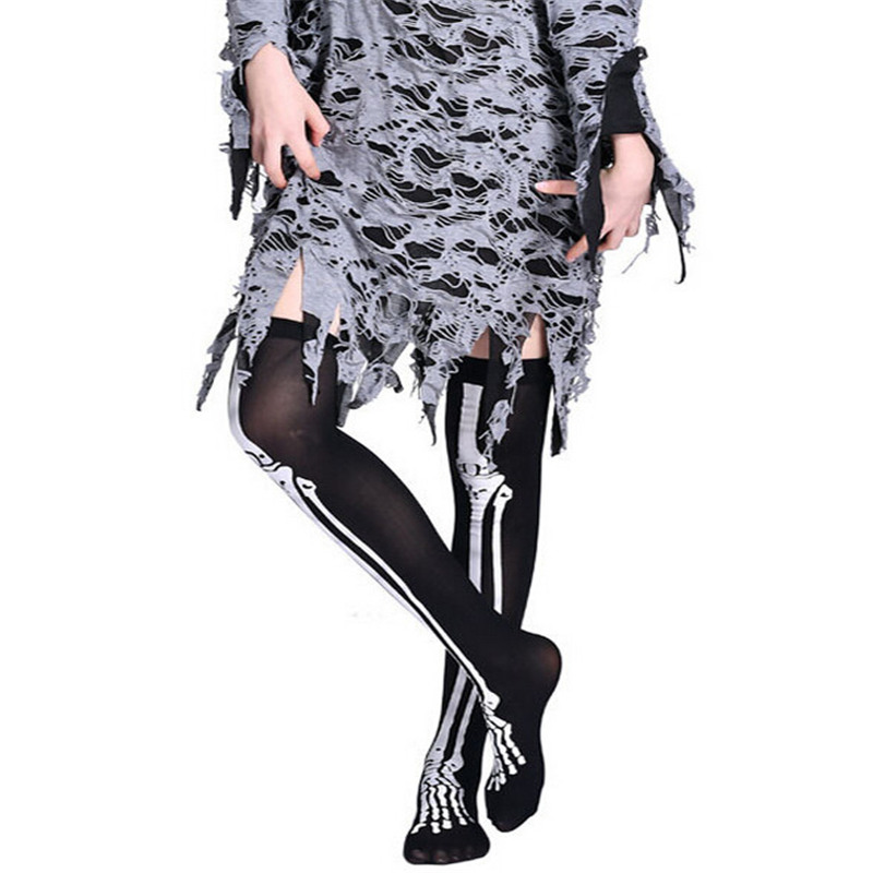 1 Pair Sports Stockings Womens Halloween Wind Thigh High Socks Stockings Over The Knee #1G05 (17)