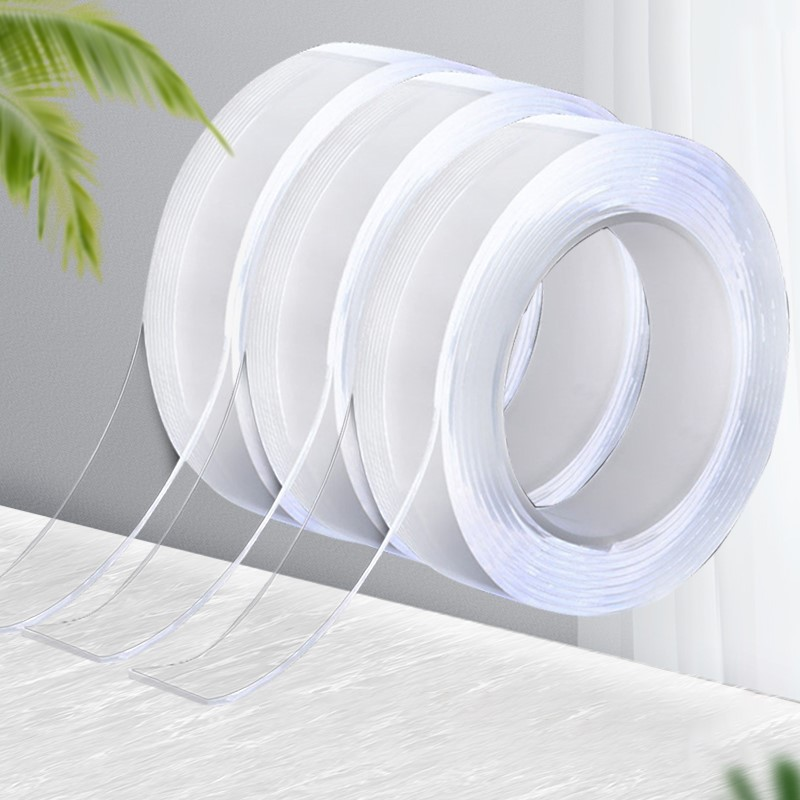 1/2/3/5 м нано-лента Двусторонняя лента для лица прозрачная многоразовая водонепроницаемая клейкая лента очищаемая Скотч для ванной комнаты