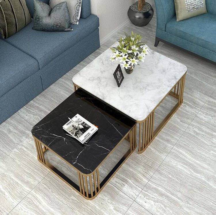 Marble Combination Side Table Furniture журнальный столик Living Room End Coffee Table Modern Sofa Center Table Square Table