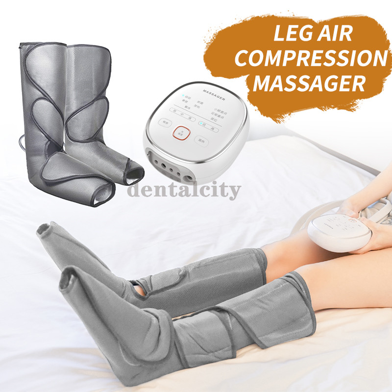 Leg Air Compression Massager Heated for Foot and Calf Relax and relieve pain