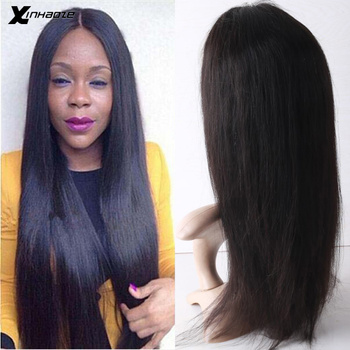 Xinhaoze 13x6 Lace Front Remy Human Hair Wigs Malaysian Straight Wig For Black Women Pre Plucked With Baby Hair