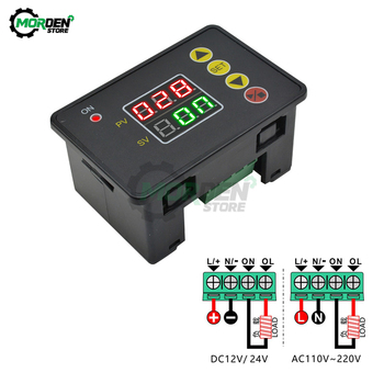 Programmable Digital Time Delay Relay AC 110V 220V DC12V Normally Open Relay module with buzzer alarm cycle timer control switch no lock digital programmable timer time relay microcomputer electronic digital timer switch relay control din rail mount